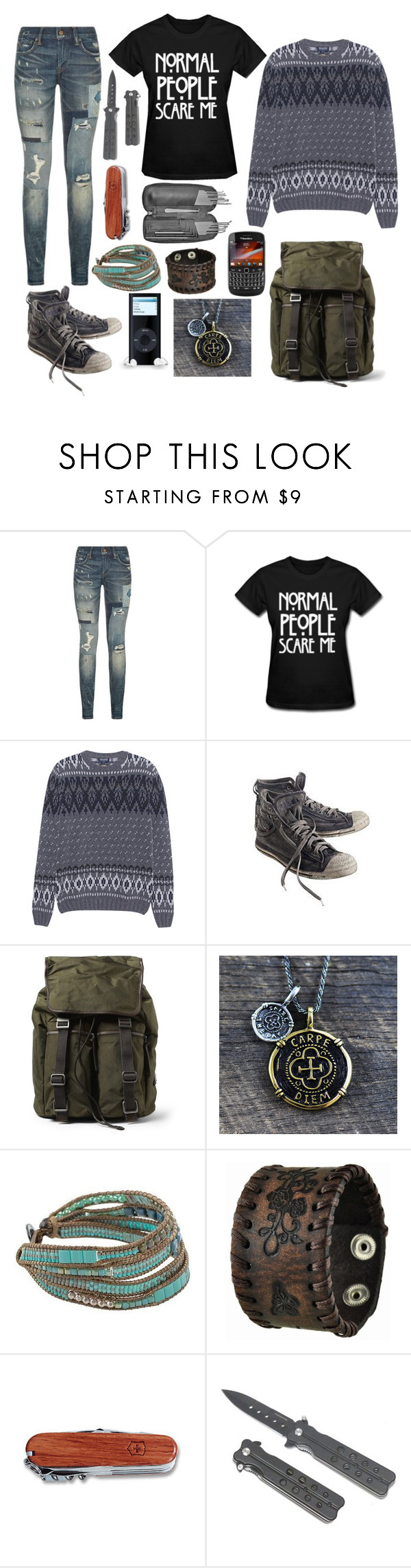 """Untitled #325"" by sammywinchester05 ❤ liked on Polyvore featuring Polo Ralph Lauren, Woolrich, Diesel, Dolce&Gabbana, NOVICA, Nemesis and Victorinox Swiss Army"