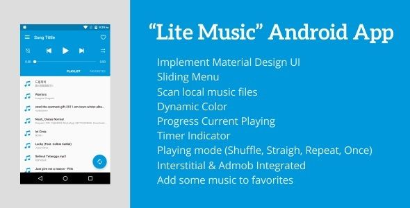 Free Download Lite Music 3 0 - Android Music Player