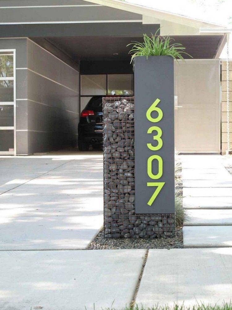 plaque num ro maison en gris anthracite transform en jardini re originale id es diy mahg. Black Bedroom Furniture Sets. Home Design Ideas