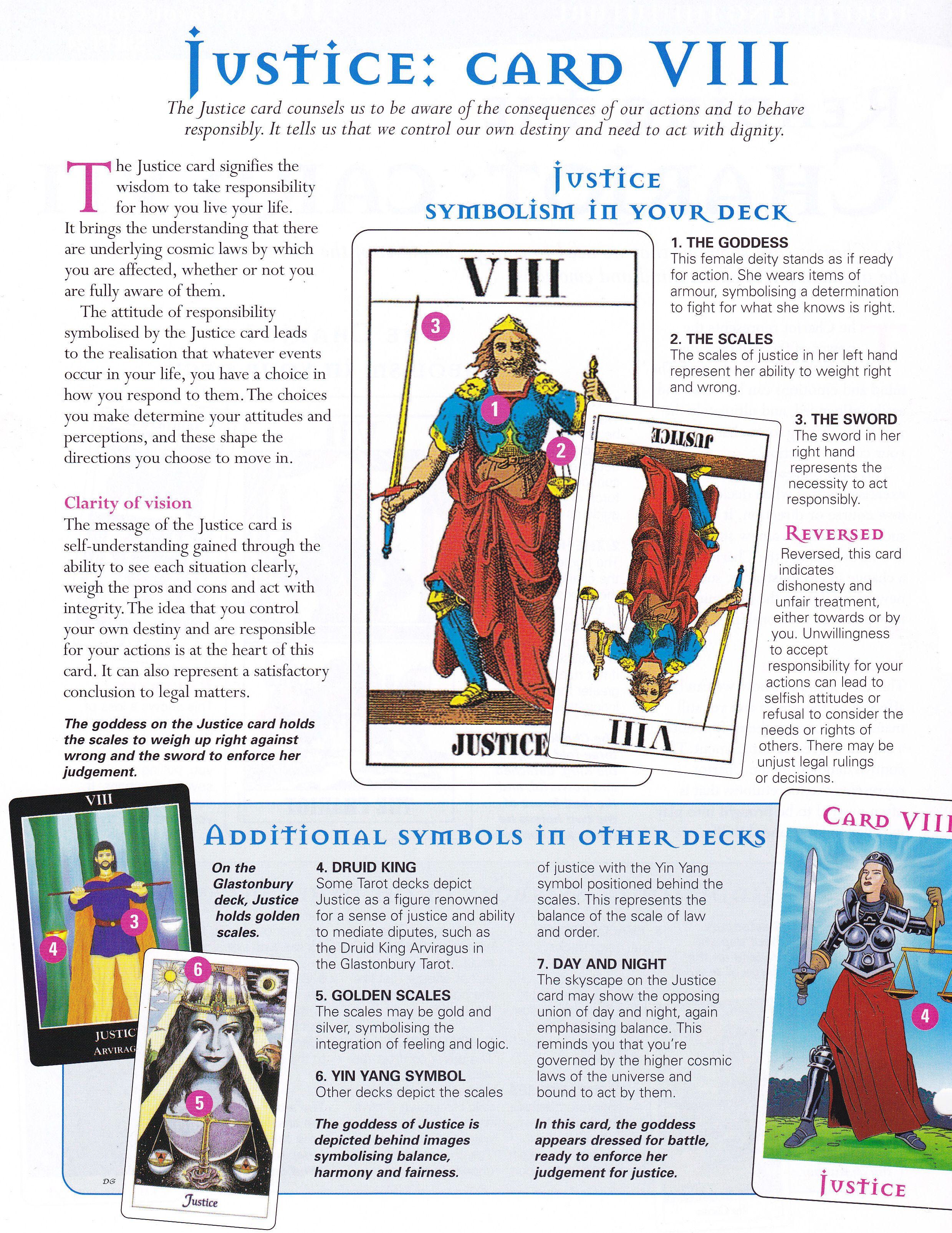 Justice Card Justice Tarot Tarot Meanings Tarot Learning
