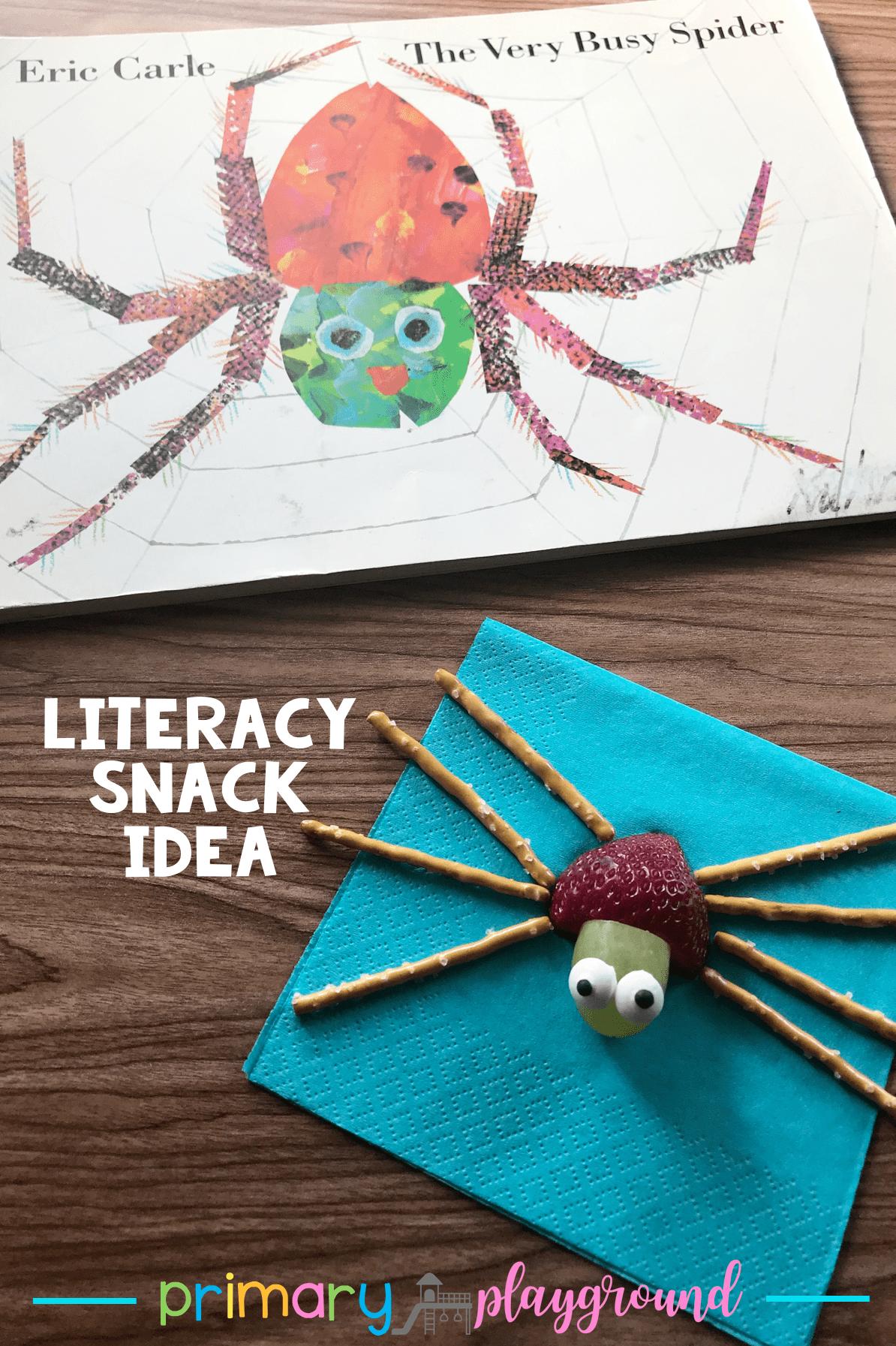 Literacy Snack Idea Spider Free Printable