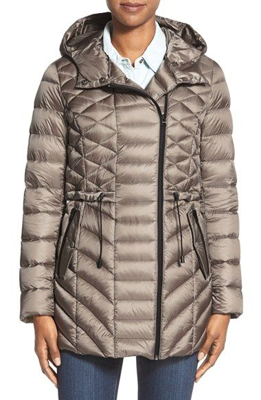 9b0188d55 Halogen® Hooded Asymmetrical Zip Down Jacket available at #Nordstrom ...