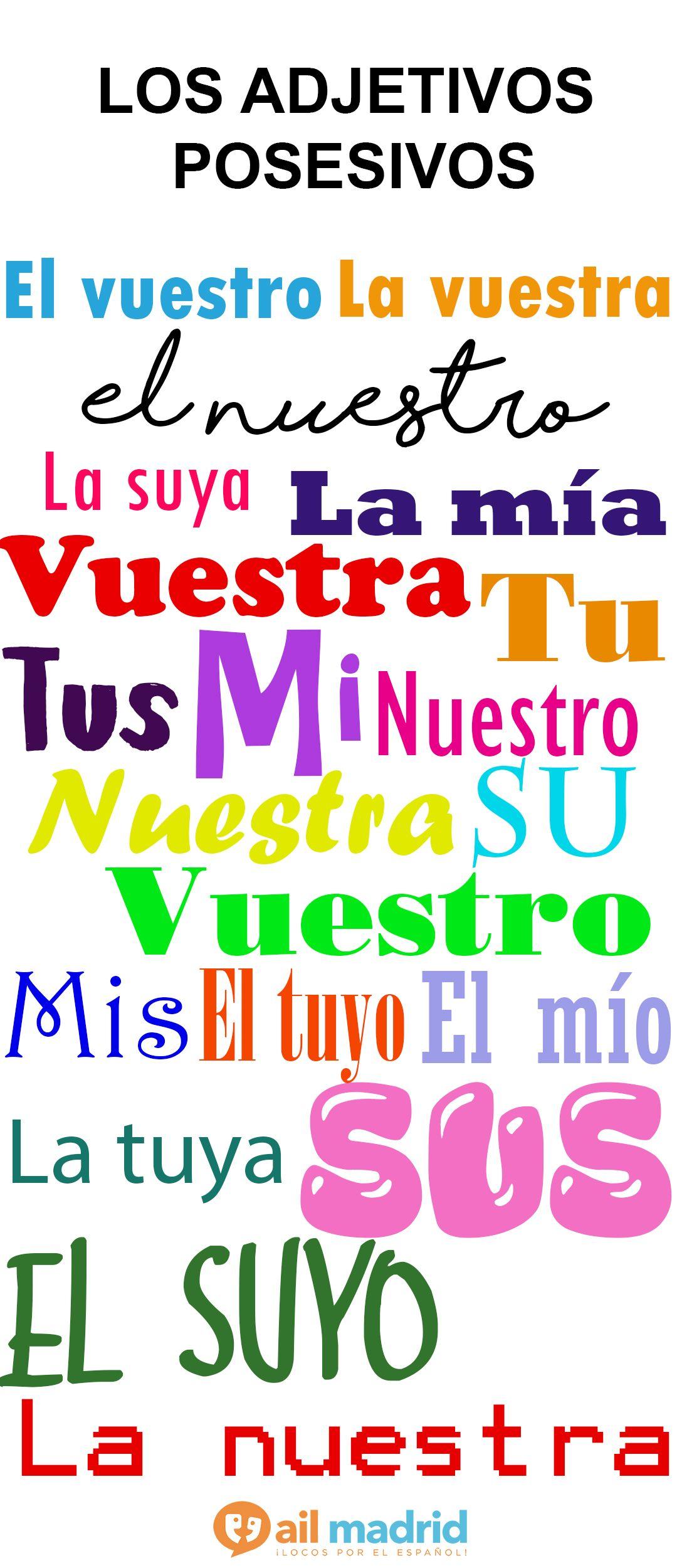 Learn The Possessive Adjectives In Spanish Aprende