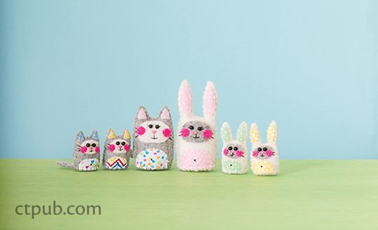 Pipsqueaks  ItsyBitsy Felt Creations to Stitch & Love #feltcreations
