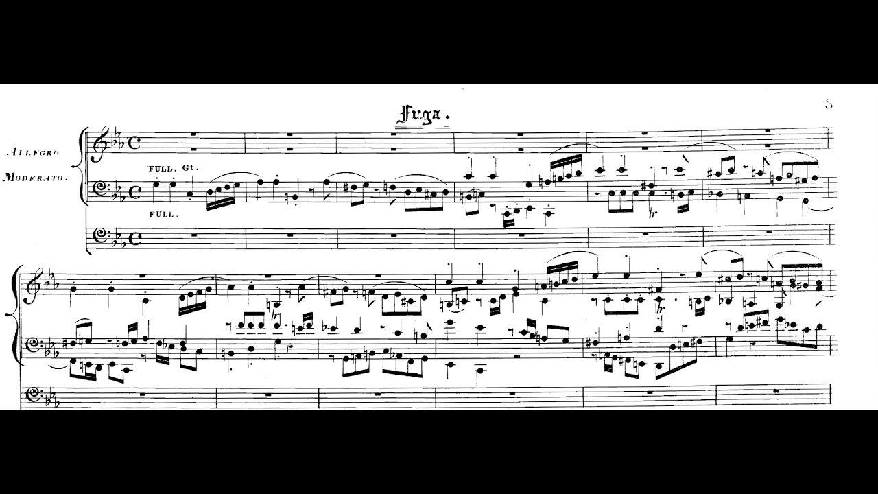 Wolfgang Amadeus Mozart Grand Introduction And Fugue For Organ
