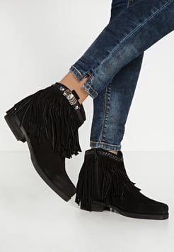 Lazamani Botki Kowbojki I Motocyklowe Black Shoes Ankle Boot Fashion