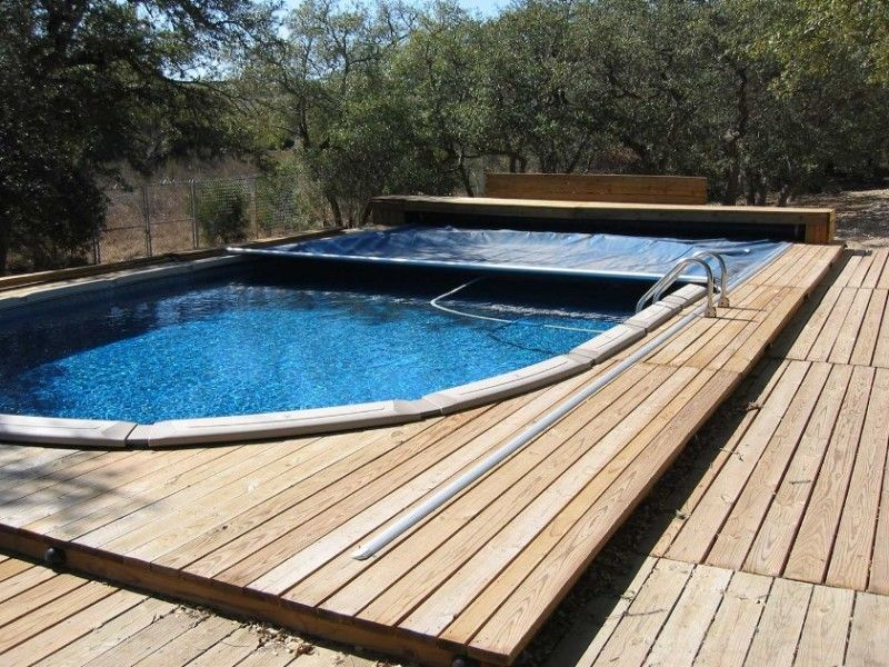 Above Ground Retractable Pool Cover, Above Ground Pool Cover With Deck
