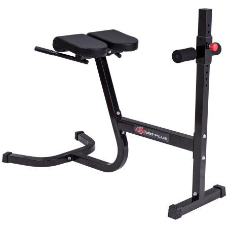 Goplus roman chair hyperextension bench back abdominal exercise