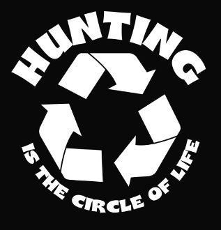 New Custom Screen Printed T-shirt Hunting The circle Of Life Sma
