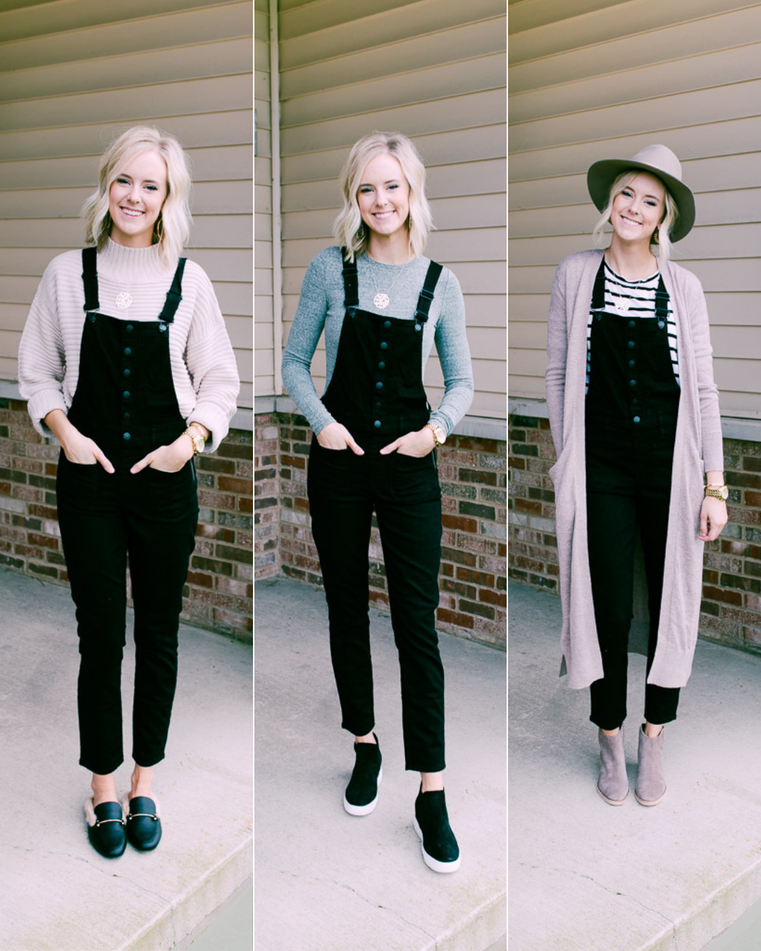 How to Style Overalls  Ways u The Modern Day Blonde  FallWinter