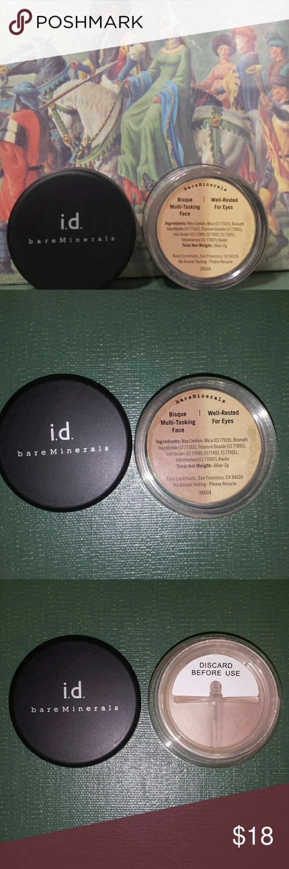 Bare Minerals Bisque Multi Tasking Well Rested Bare Minerals Eyeshadow Base Skin Imperfection