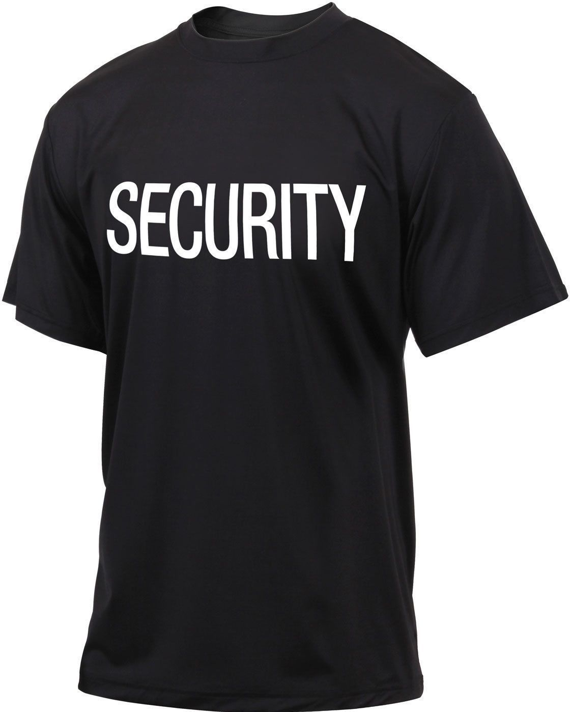 Black Quick Dry Performance Double Sided Security T-Shirt  aa633439b09