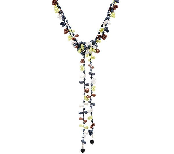 Add this adjustable candy lariat necklace from Attitudes by Renee to any ensemble for a truly sweet look. QVC.com