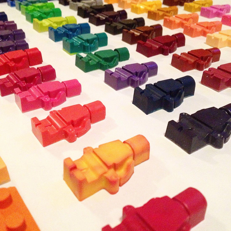 Custom Order Listing: Set Of 6 Lego Crayons By Acorn Grove