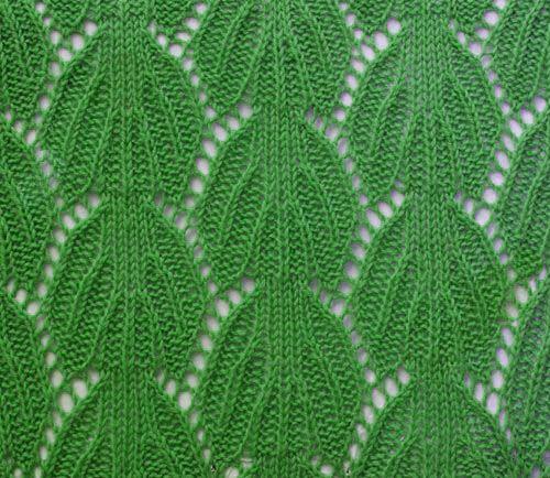 Leaves Knit Stitch Pattern Rg Pinterest Stitch Patterns And