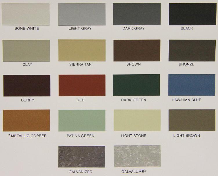 Color Options For Metal Siding Metal Siding Colors Metal Siding Steel Siding Colors