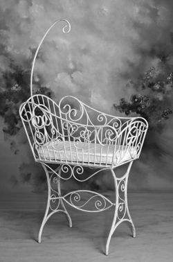 Baby Bassinet In Metal With Removable Arch Wicker By Design Photo