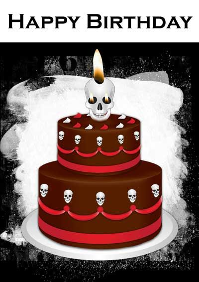 Gothic Cake Birthday Card - my-free-printable-cards - freeprintable birthday cards