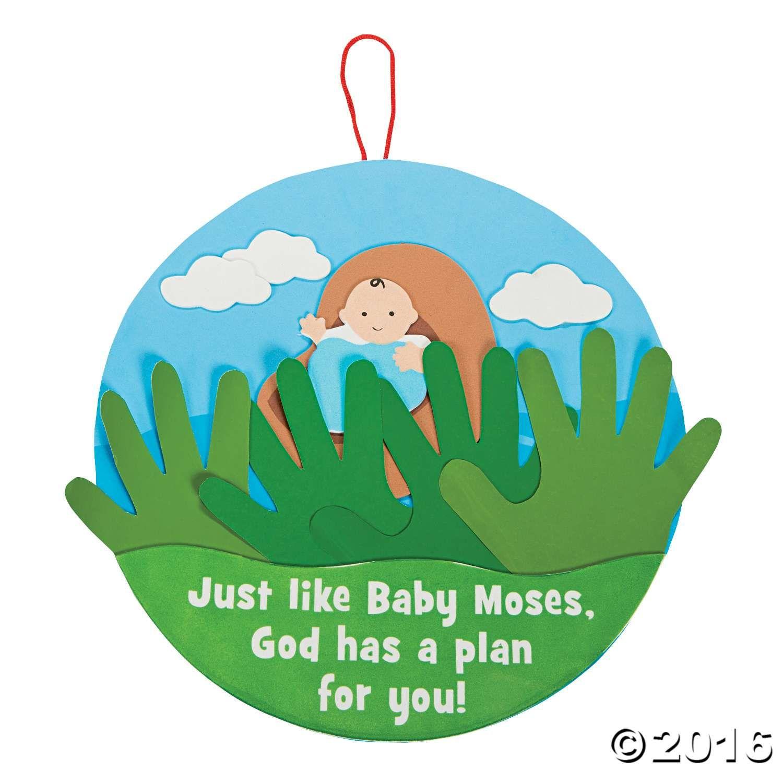 Handprint Baby Moses Sign Craft Kit | vbs | Pinterest | Baby moses ...