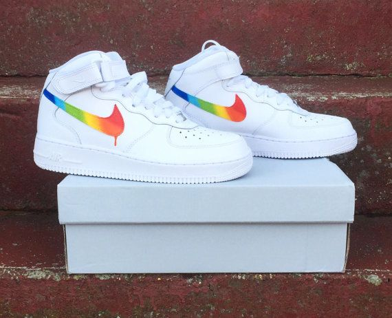 Regenboog nike Air Force 1 | shoes in 2019 Nike luchtmacht