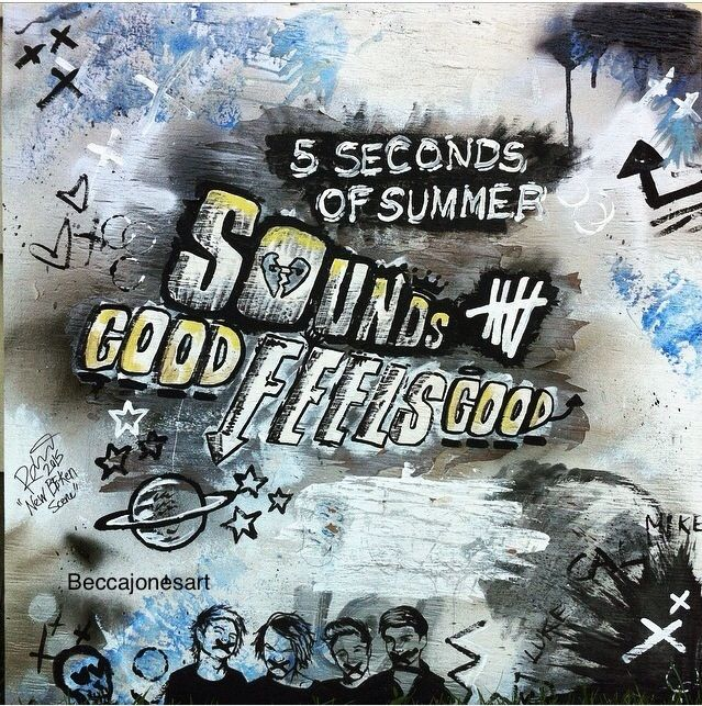Sounds Good, Feels Good   5 Seconds Of Summer Man Whoever Drawled This They  Are Amazing😍😘😍