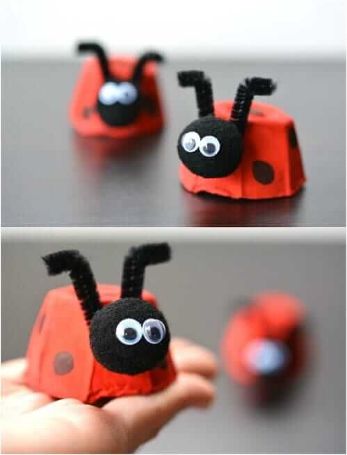 Photo of Super simple and cute DIY craft ideas with egg boxes