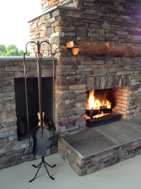 Hand forged 4 piece outdoor fireplace tool set. - Hand Forged 4 Piece Outdoor Fireplace Tool Set. Mantels/ Hearths