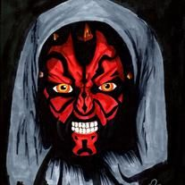 8.5 x 11 Sith Lord, Darth Maul from Star Wars Episode 1: The Phantom Menace.