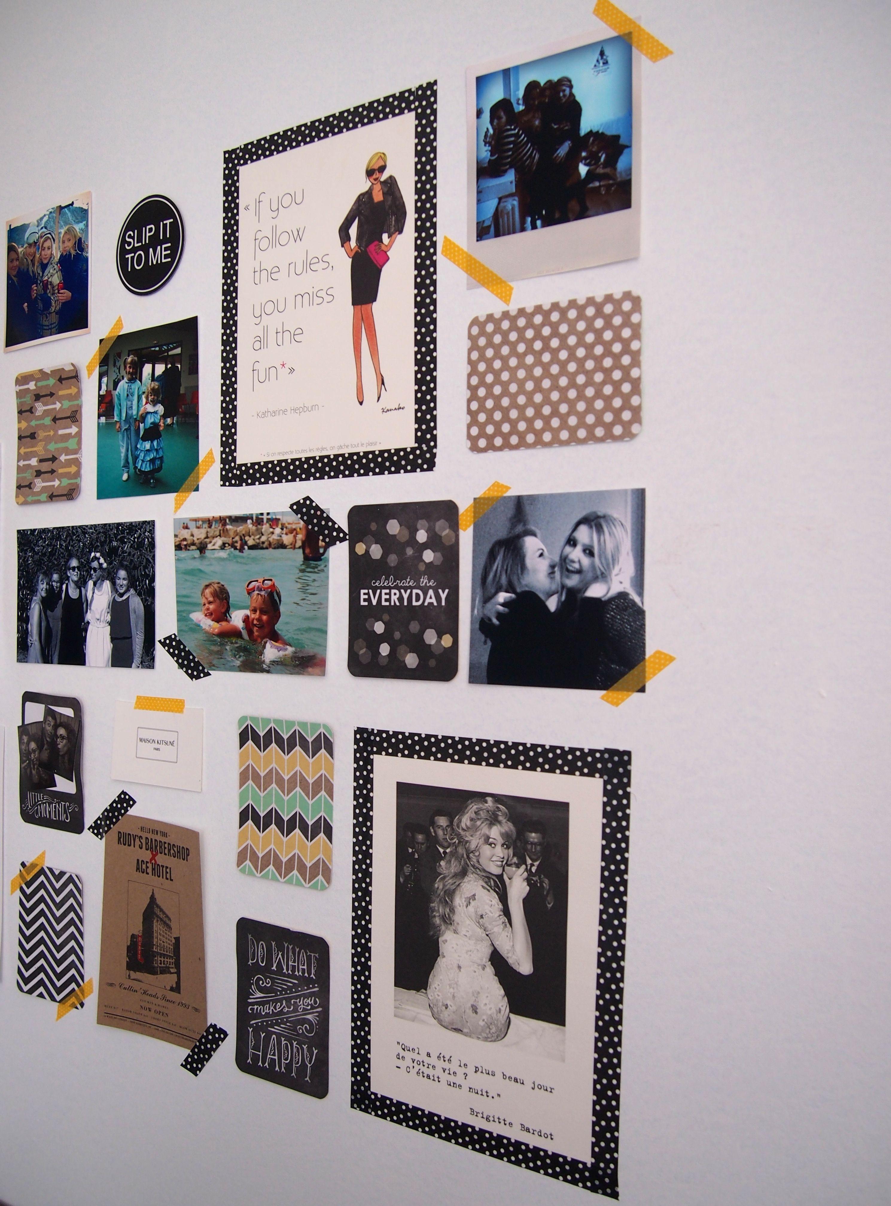 mur photo  Masking tape déco murale, Déco murale chambre, Idée