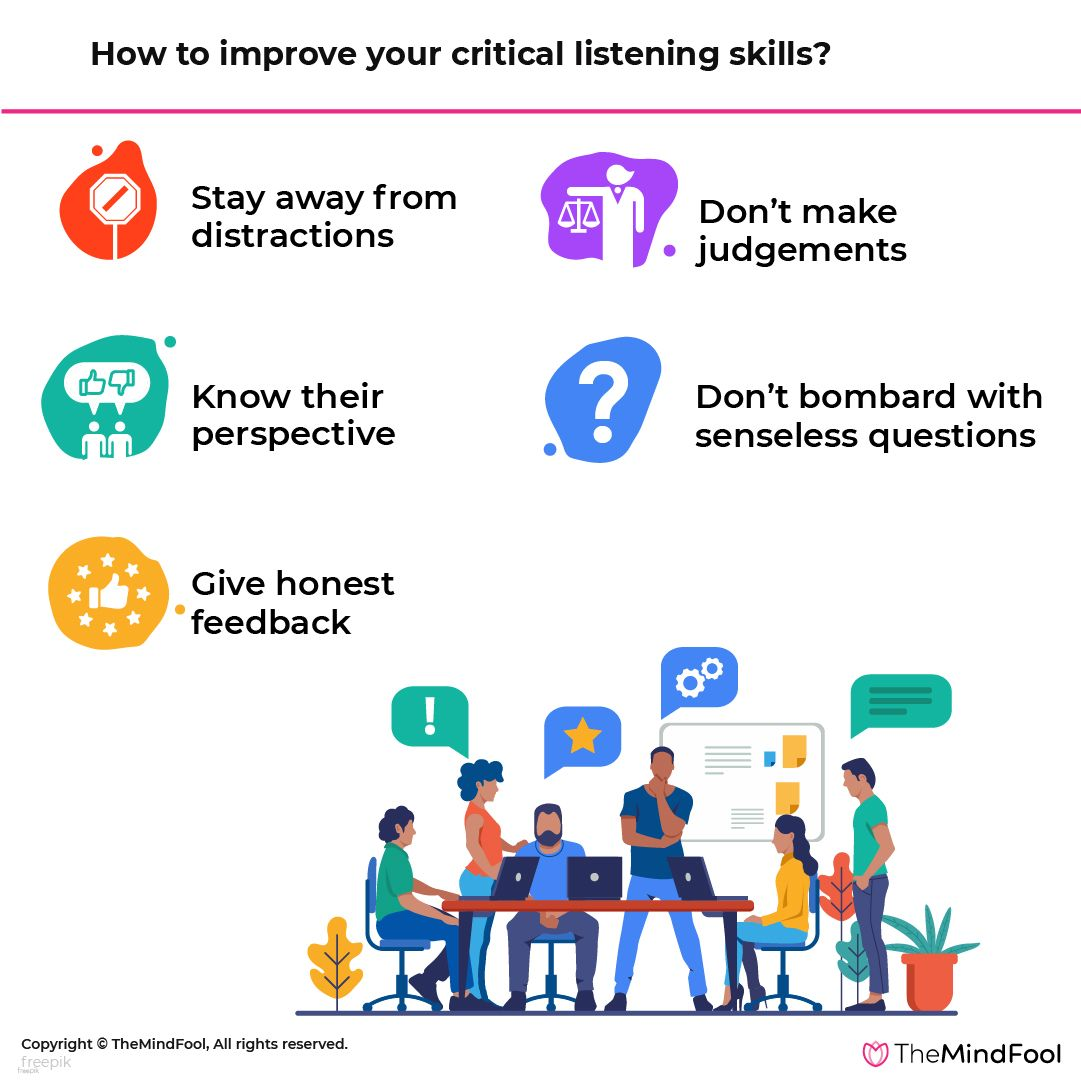 How To Improve Your Critical Listening Skills Listening Skills Good Listening Skills Good Listener