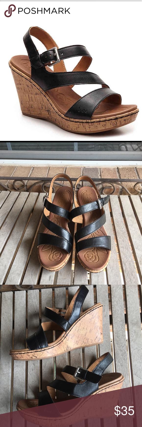 f5c8013e81f B.O.C Schirra Black Wedge Sandals The Schirra wedge sandal from b.o.c will  become a staple in