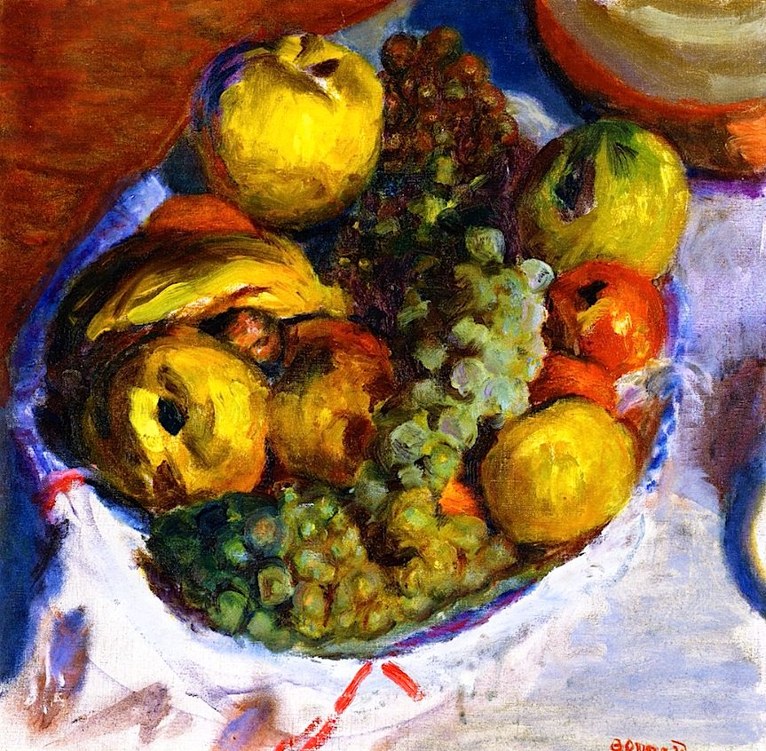 bofransson:  Still LIfe, Three Bunches of Grapes Pierre Bonnard - 1922