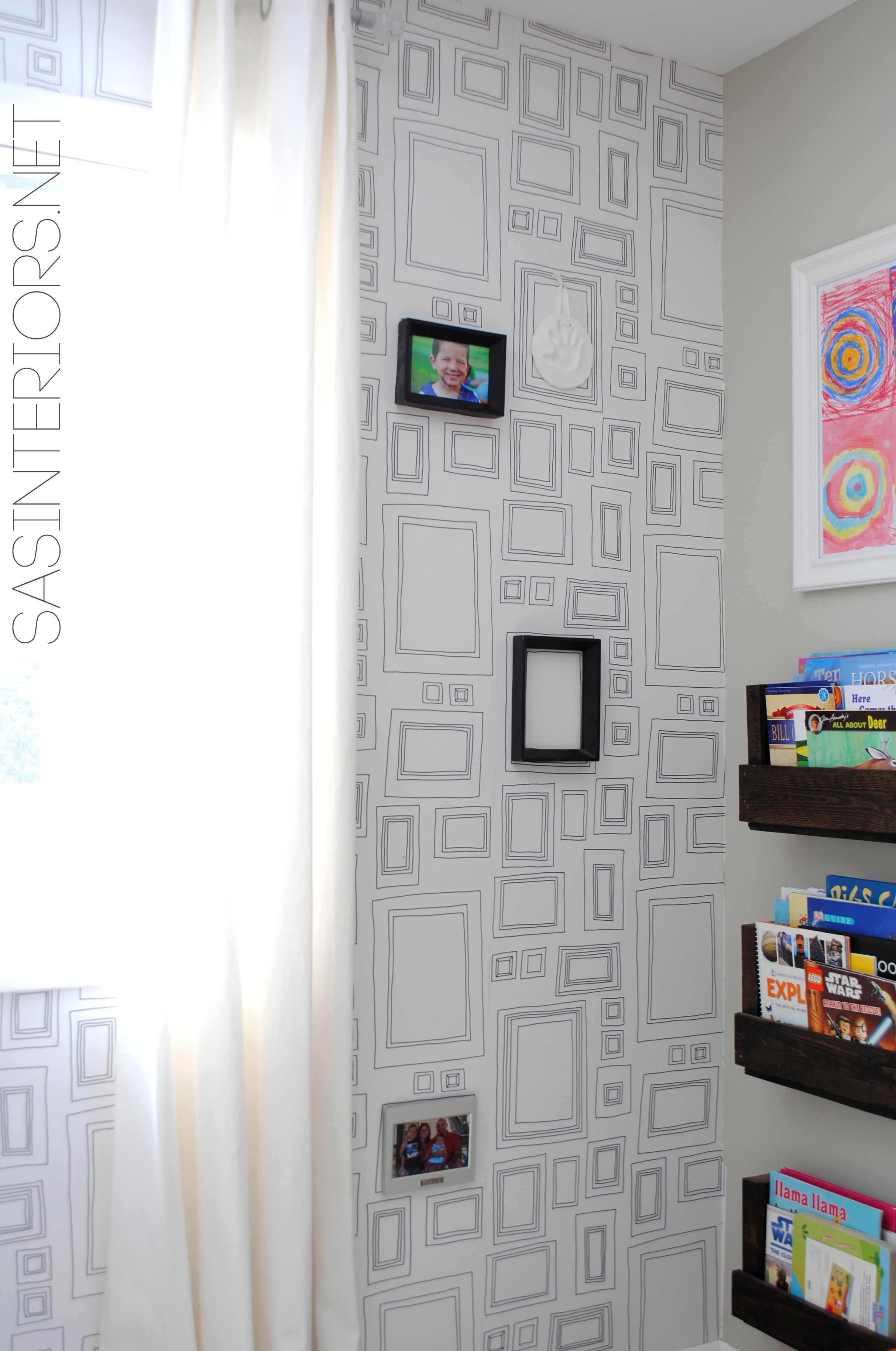 Tutorial Tips Tricks For Hanging Wallpaper Do It Yourself But Get The Results Of A Pro Splurge On How To Hang Wallpaper Photo Wall Gallery Gallery Wall