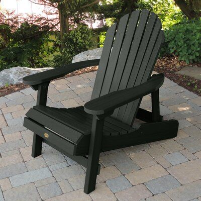 Anette Plastic Folding Adirondack Chair Color Charleston Green In