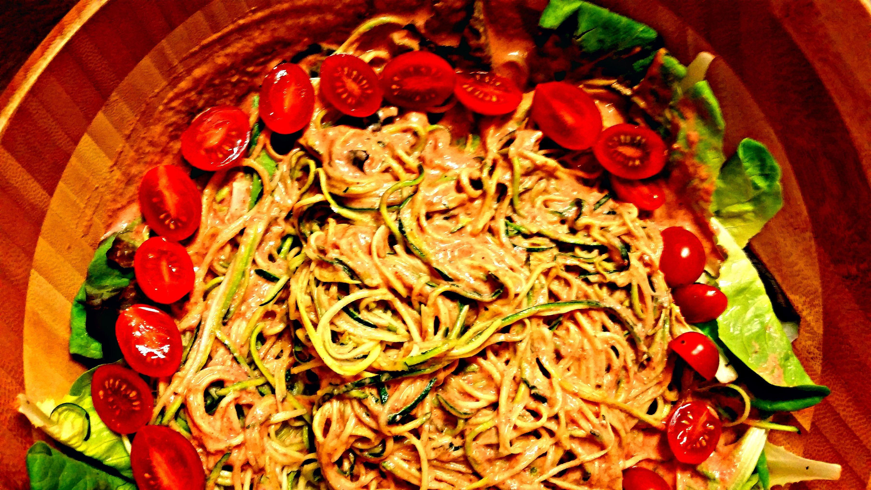 Raw vegan tandoori masala red pepper pasta recipe zucchini raw vegan tandoori masala red pepper pasta zucchini pasta recipesraw forumfinder Image collections