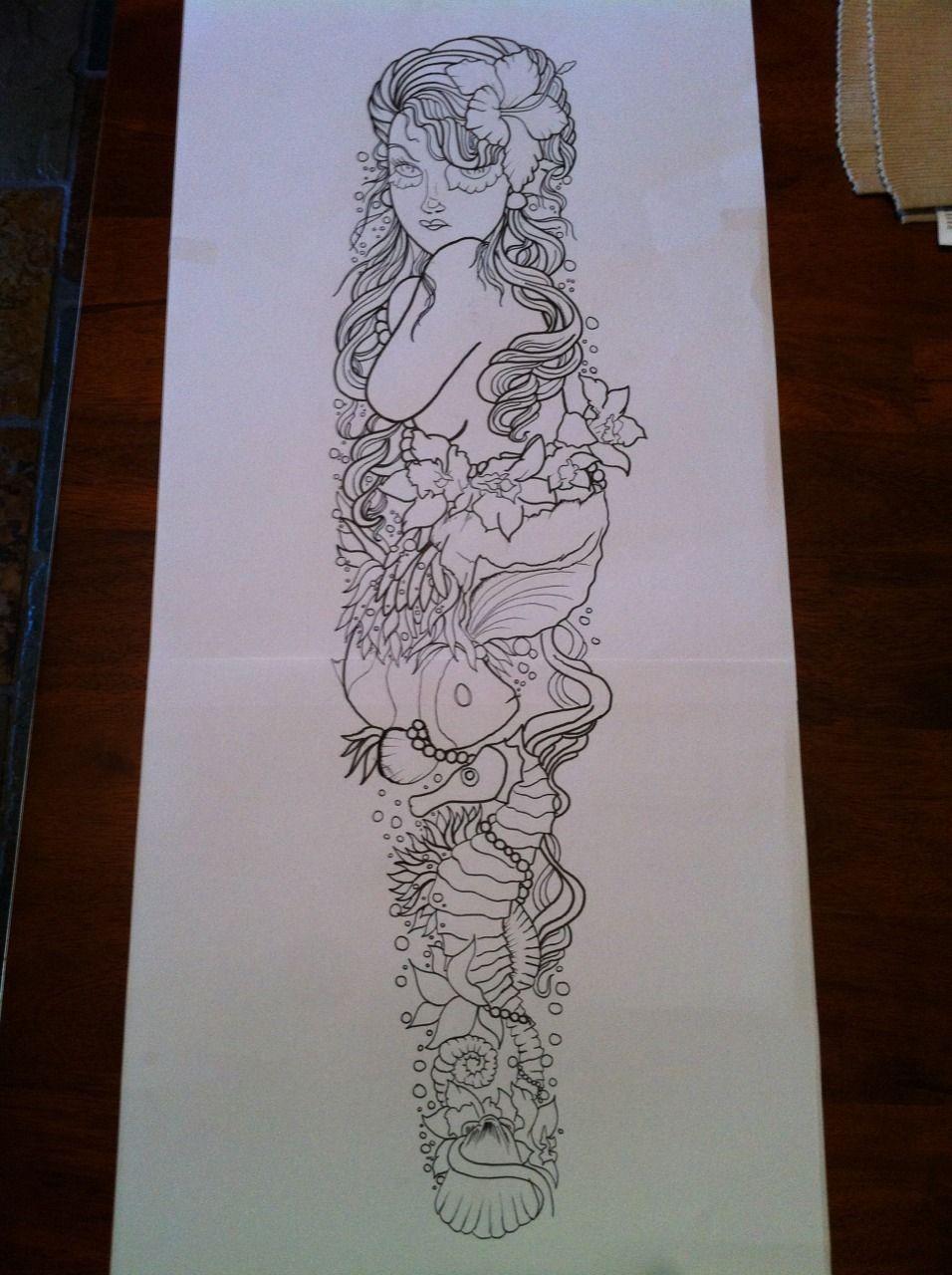 Tattoo Sleeve Ideas For Women Tumblr Ocean theme sleeve