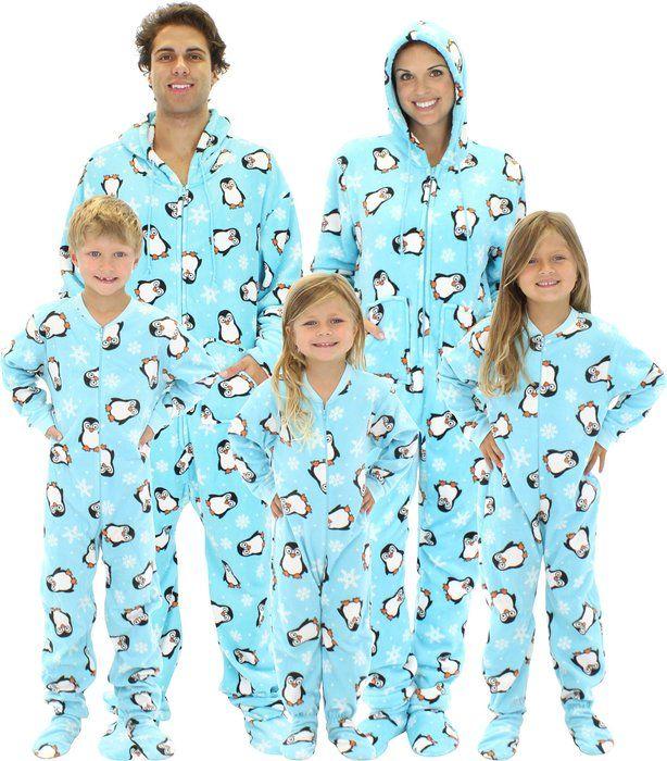 96f643d1d SleepytimePjs Family Matching Penguin Onesie PJs Footed Pajamas