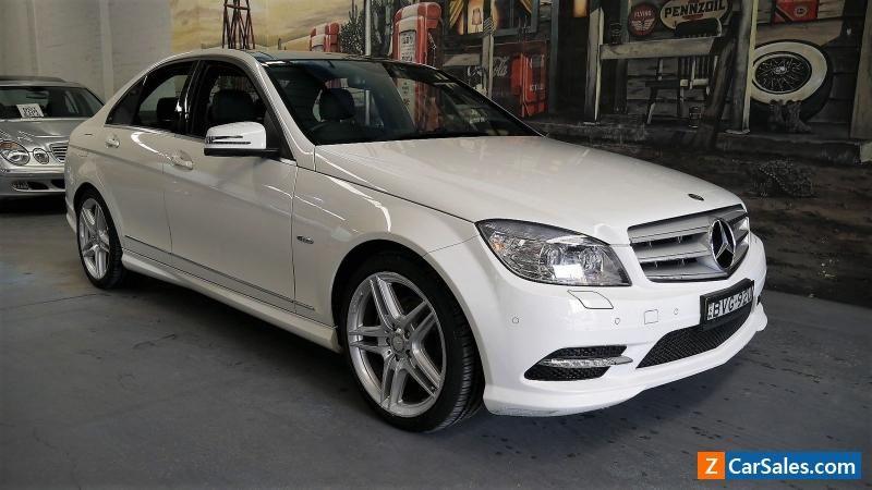 2010 Mercedes-Benz C250 CGI W204 MY10 Avantgarde White