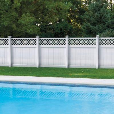 Veranda 6 Ft H X 6 Ft W Valley White Vinyl Fence Panel Kit
