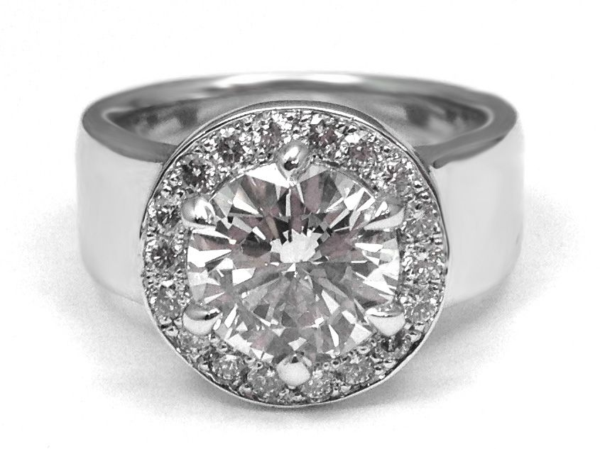Engagement ring es1269 wide band engagement ring