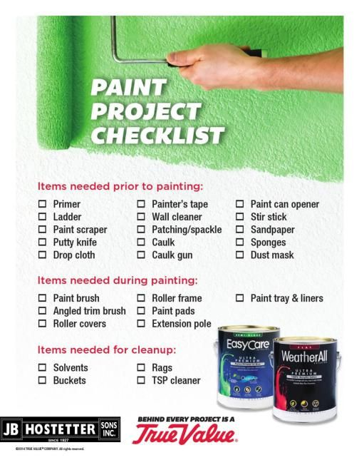Paint Project Checklist For Before, During, and After Painting - project checklist