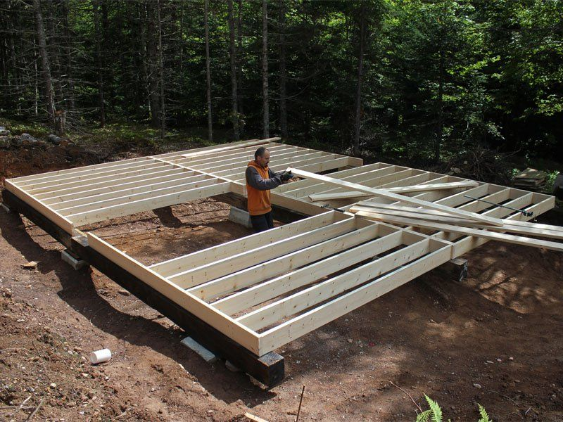 how to frame a floor on piers