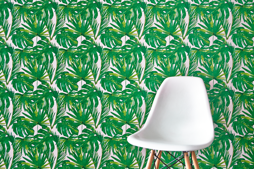 Removable Wallpaper Love: Green Leaf | The English Room