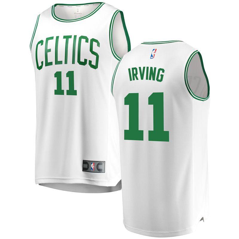 70ef1b5b7 Kyrie Irving Boston Celtics Fanatics Branded Fast Break Replica Jersey  White - Association Edition
