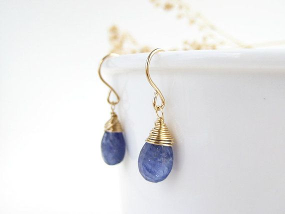 Genuine Tanzanite Earrings  December birthstone by SerasiJewelry, $29.99