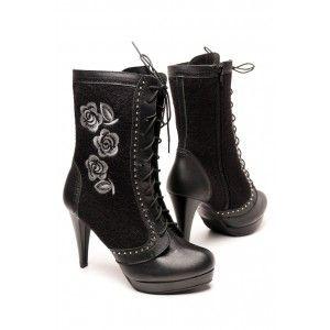 Folkowe Haftowane Buty Recznie Szyte Rekodzielo Folk Fashion Heels Shoes