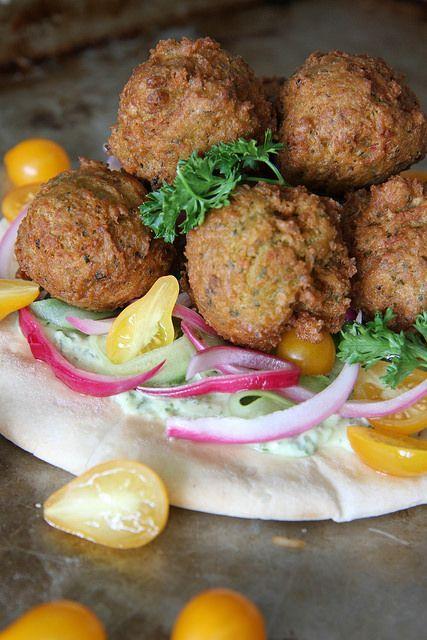 Crispy Green Onion Falafel by Heather Christo