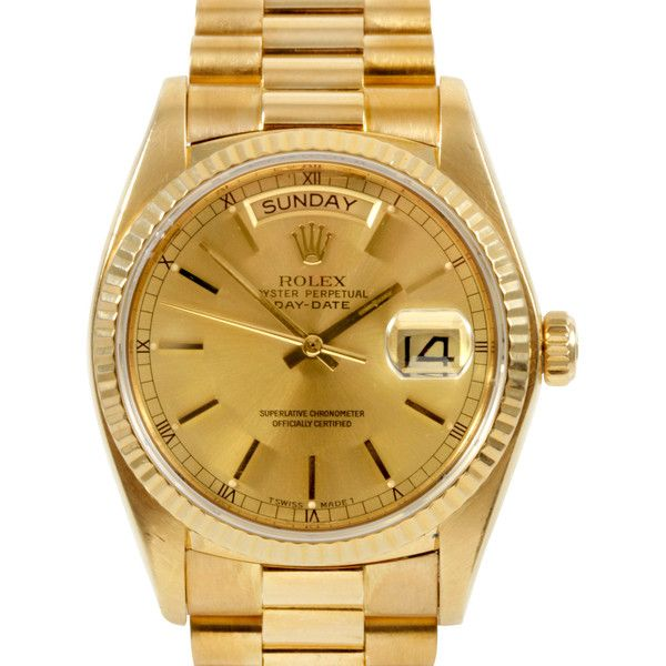 Pre-owned Rolex Watch (¥1,452,165) ❤ liked on Polyvore featuring jewelry, watches, apparel & accessories, brown, brown watches, bezel jewelry, pre owned watches, rolex watches and pre owned jewelry