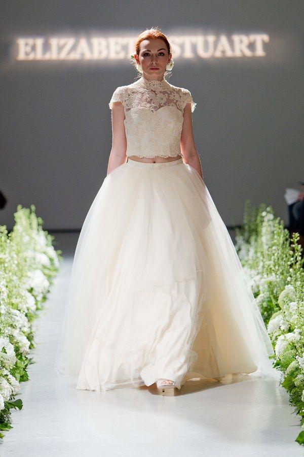 Elizabeth Stuart Dara Gown- You and Your Wedding '20 Of The Best Two Piece Wedding Dresses' #elizabethstuart