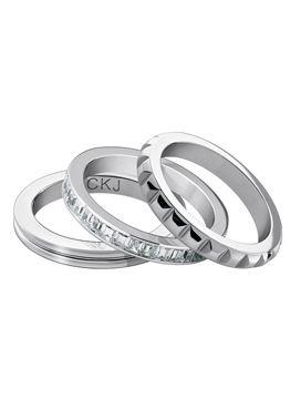 c9b4f776d6d36 Boutique dos Relógios   Produtos   Joalharia   Bijoutaria   calvin klein  jewelry   CkJ Astound Set 3Rings STT Wht Zircon 8